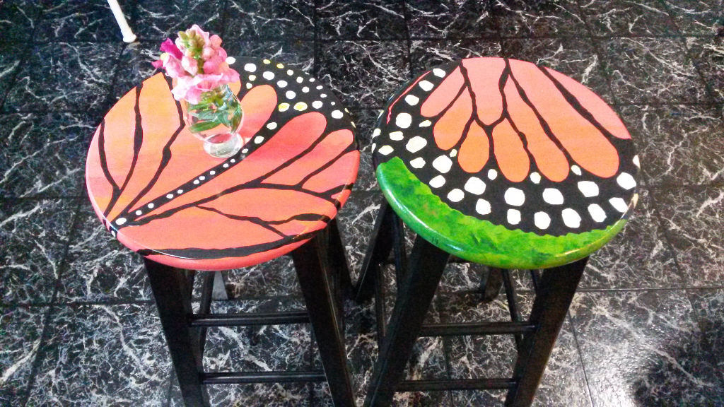 Monarch designed stools by Tiffany Wyatt.