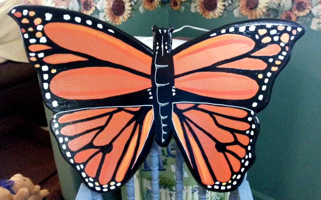 Monarch designed sign by Tiffany Wyatt.